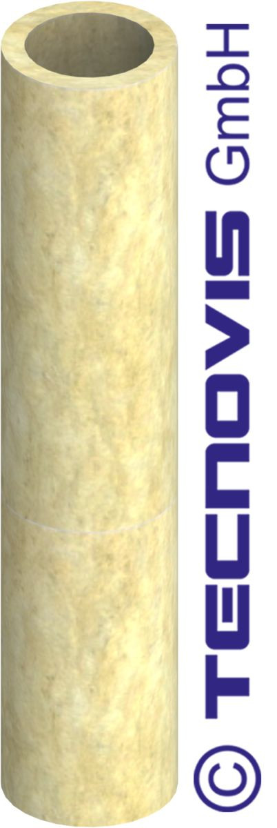 Coque isolante (25 mm laine minérale ) L = 1 mtr