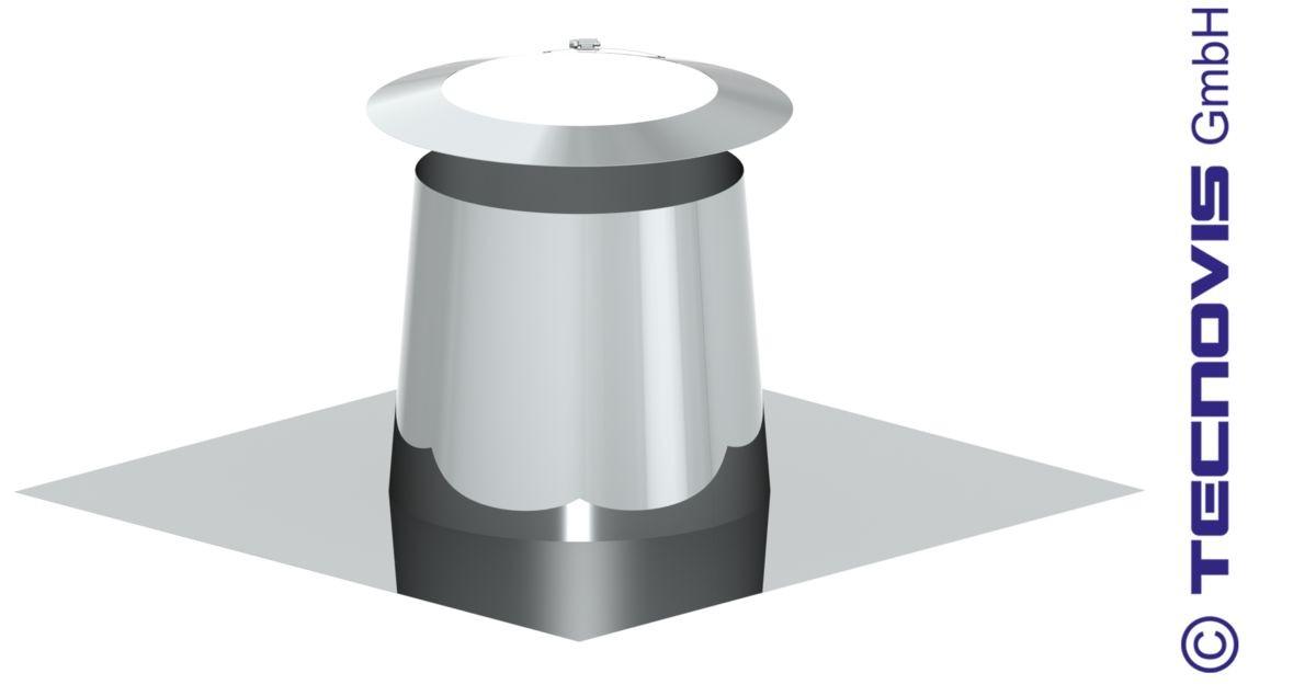 Solin en pente pour toit plat 0-5º - avec collerette