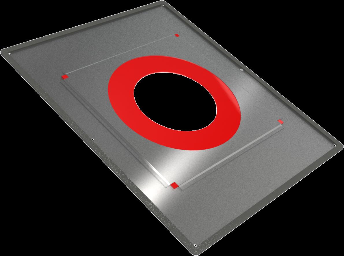 Plaque d'étanchéité à l'air avec Joint