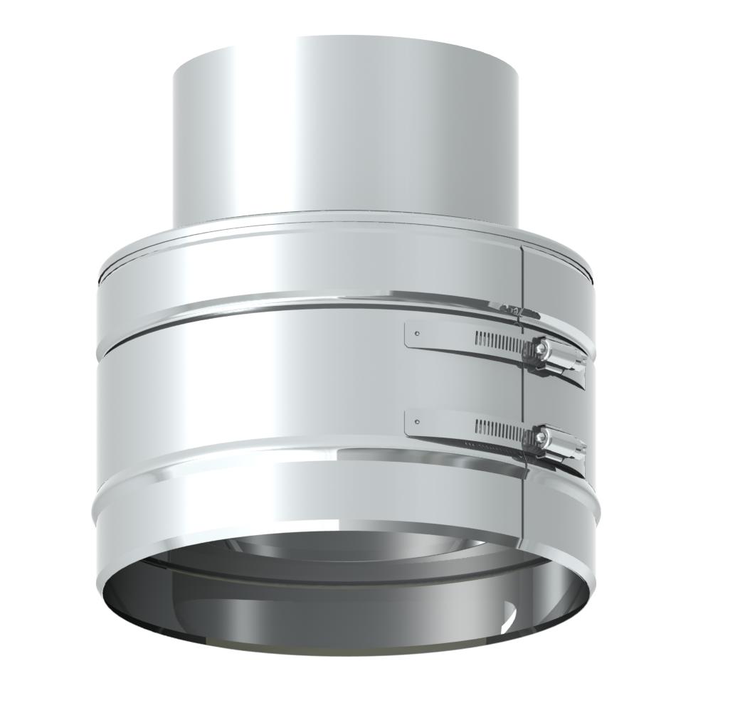 Adaptateur double - simple paroi 80 mm