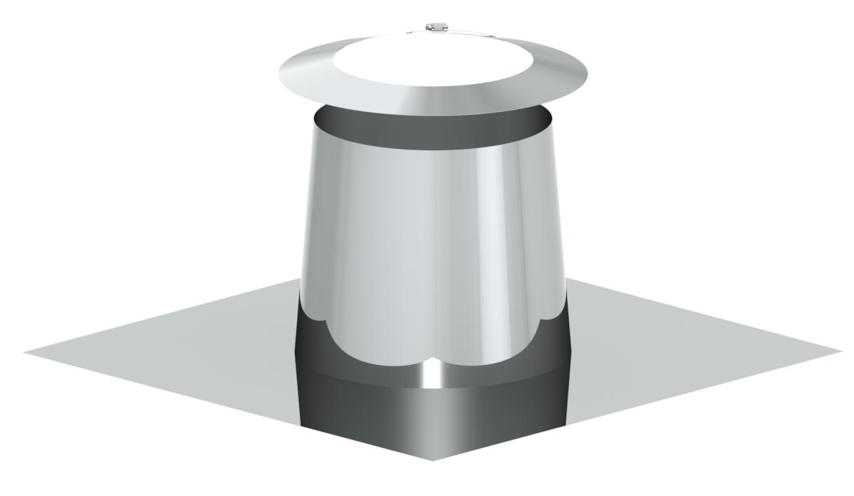 Solin en pente pour toit plat 0 -5º - avec collerette