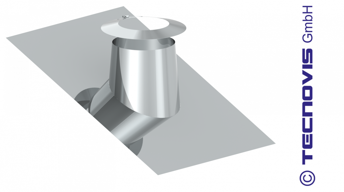 Solin en pente pour toit plat 26 -35º - avec collerette