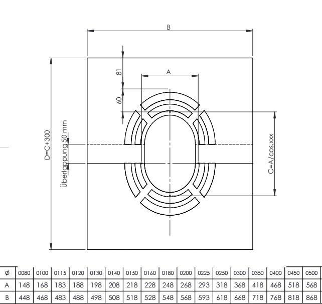 Plaque de finition avec ventilation 0 -30º