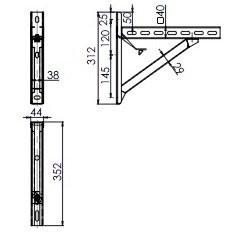Supports (Paire) jusqu'à 10.5 cm