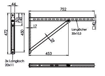 Supports (paire) distance jusqu'à  55 cm