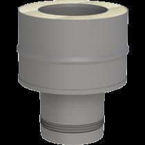 Adaptateur inox simple - double paroi 80 mm (pellet)
