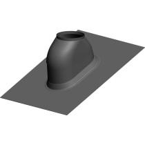 Dachdurchfürung 22-50º Schwarz mit Wetterkragen (KL72)