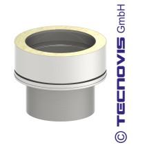 Adaptateur simple - double paroi 130 mm