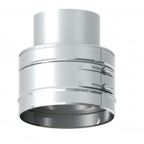 Adaptateur double - simple paroi 100 mm