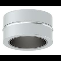 Adaptateur simple 80 mm- double paroi 100 mm (pellets)