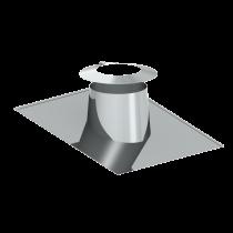 Solin en pente pour toit plat 6 - 15º - avec collerette