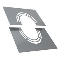 Plaque de finition avec ventilation 30 - 45º