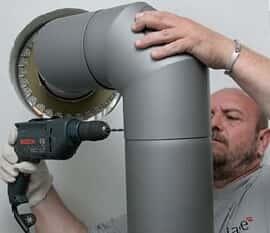 Installer un conduit de cheminée